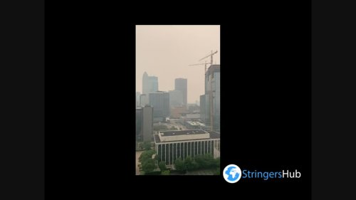 US: Smoke From Wildfires In Canada Brings Hazy Skies To Minnesota