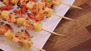 Summer on a Stick? Try These Grilled Piña Colada Shrimp Kabobs