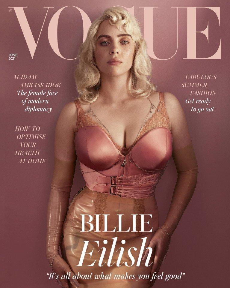 Billie Eilish stuns in sexy lingerie for British Vogue photoshoot