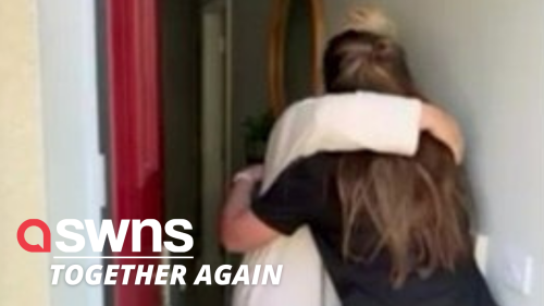Heartwarming moment woman surprises family members one by one after spending two years apart