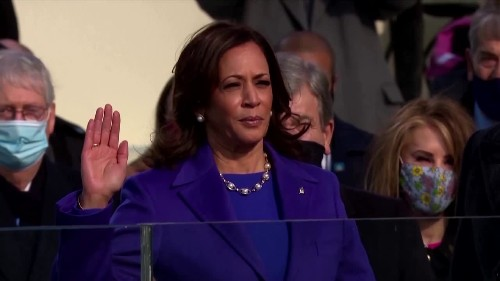 Kamala Harris sworn in as U.S. vice president