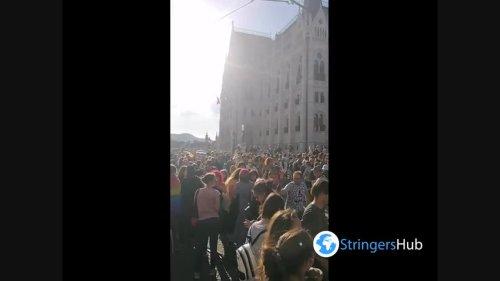 Protest against gay propaganda law in Budapest 3