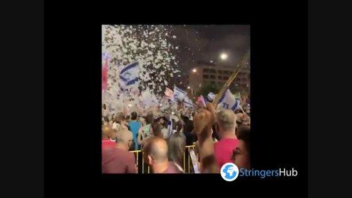 Israelis celebrate the end of Benjamin Netanyahu's reign