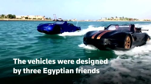 This vehicle can drive on water