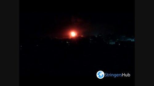 Israel's air force targets residential buildings in Gaza City