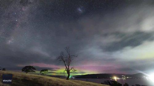 Tasmania Photographer Captures Stunning Aurora Australis Timelapse