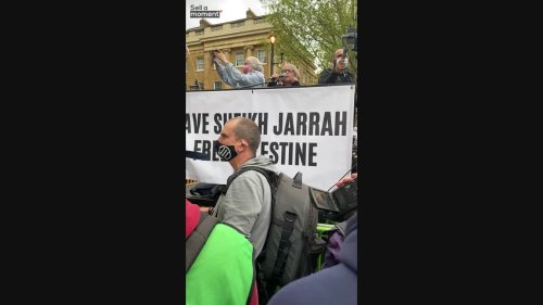 Lady slams Israel at pro-Palestinian protest in London
