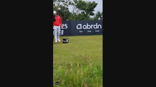 Spectator Walks Up and Steals Golf Club from Rory McIlroy at Scottish Open