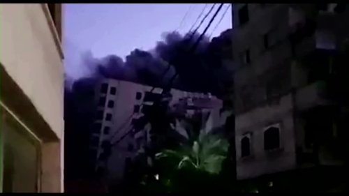 Gaza apartment block collapses after airstrike