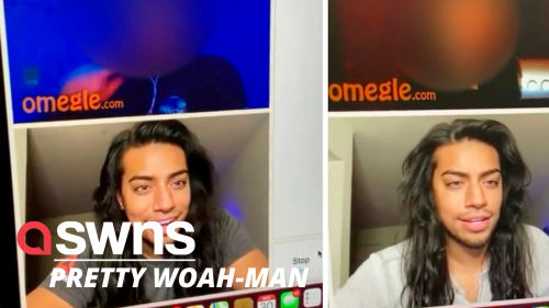 This US man's beautiful features have been blowing minds on Omegle (RAW)
