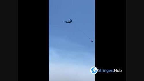 Airplane with water spotted in Serik, Turkey where forest fire continues 3
