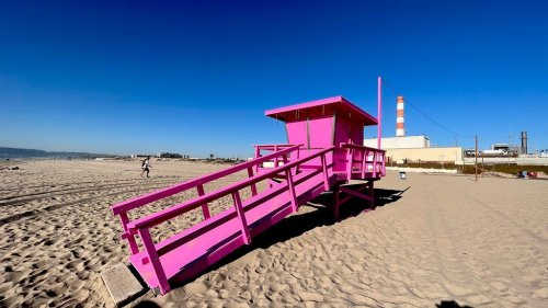 The wild colors of #SoCal lifeguard towers