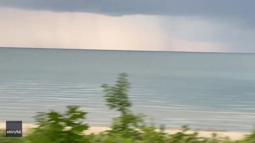 An 'Erie' Sight: Waterspout Looms Over Great Lake in Ontario