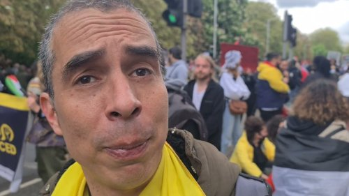 Colombian National Shows Support for Palestine in London Protest