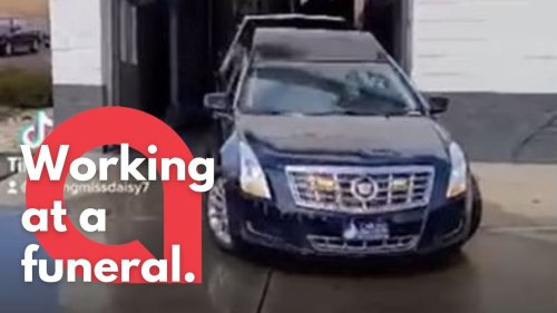 A touching funeral procession was held at a CAR WASH, for long time employee who really adored his job (RAW)