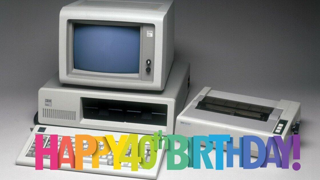 Happy 40th Birthday, IBM PC!