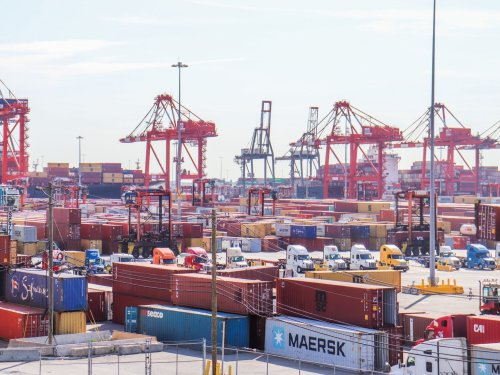 I went inside the East Coast's largest port and saw how a backlog of goods is moved amid never-ending chaos of ships, trucks, and trains