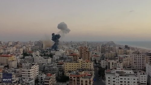Missile Strike Hits Gaza Government Compound Amid Ongoing Clashes With Israel