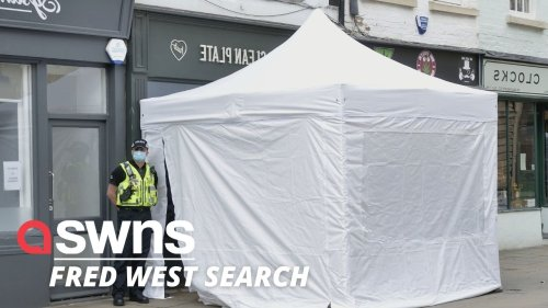 Police dig up cafe in search for suspected victim of Fred West Mary Bastholm (RAW)