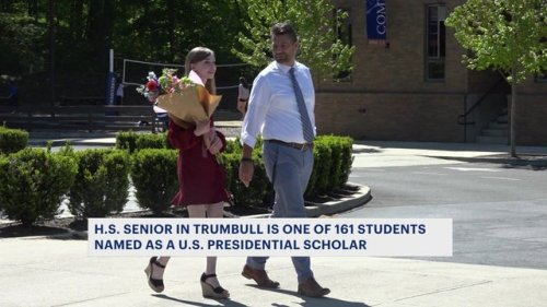 Trumbull high school senior named as US Presidential Scholar by Dept. of Education