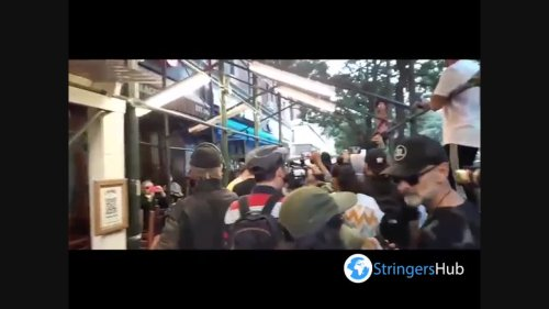 US: BLM Protesters Gather At NYC Restaurant After Brawl Over Vaccine Proof