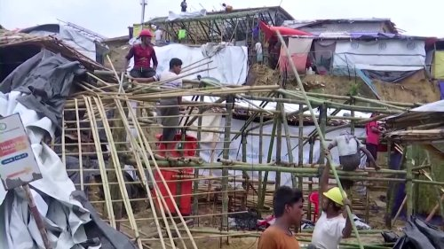 Rohingya refugees rebuilding after March fire