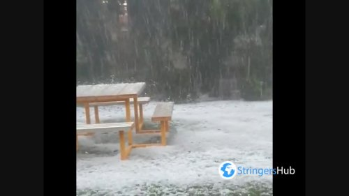 Australia, Queensland regions hit by powerful hail storms 1