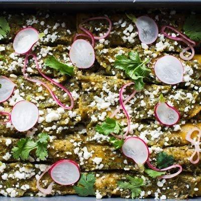 Chicken Enchiladas With Salsa Verde Will Revolutionize Your Dinners