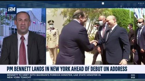 Bennett lands in New York ahead of UN General Assembly speech