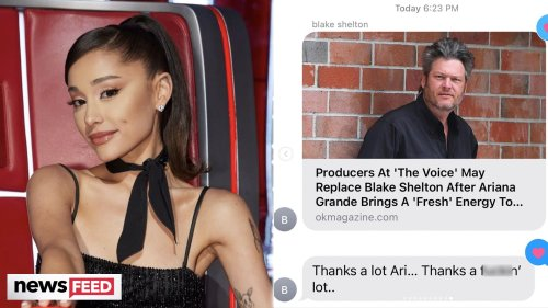Ariana Grande REVEALS Shady Text From Blake Shelton Over THIS Rumor!