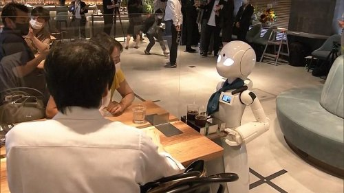 Cafe staffed with robots remotely controlled by disabled workers opens in Tokyo