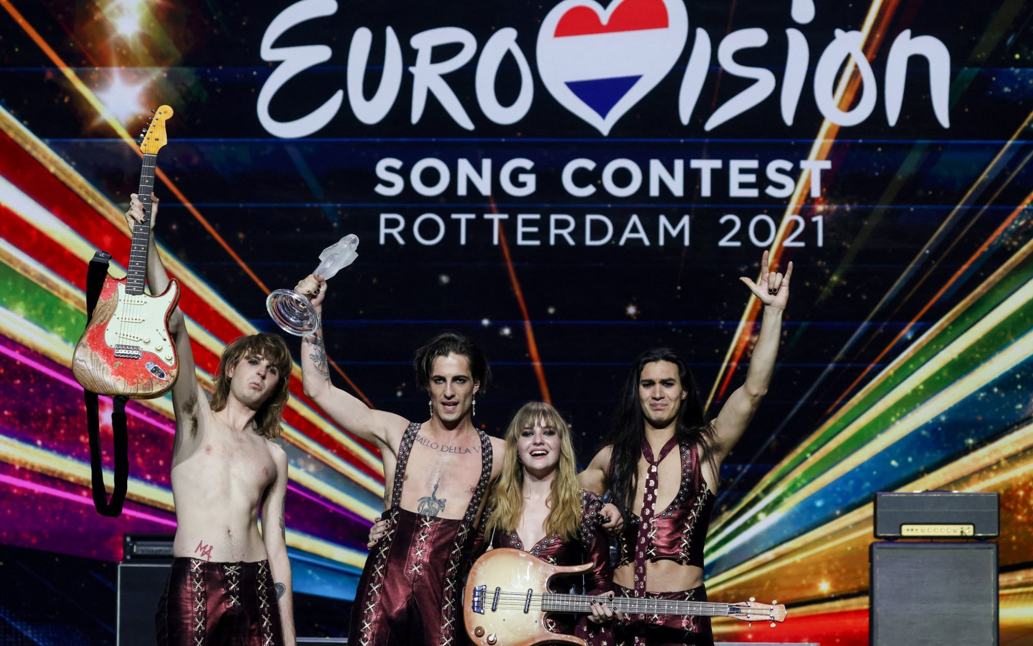 Eurovision 2021, vincono i Maneskin