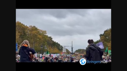 Thousands join Fridays for Future climate protest in Berlin, Germany