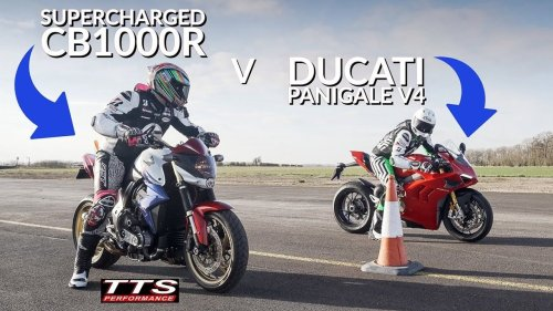 Watch This Ducati Panigale V4S Dominate A Powerful BMW SUV On The Drag Strip