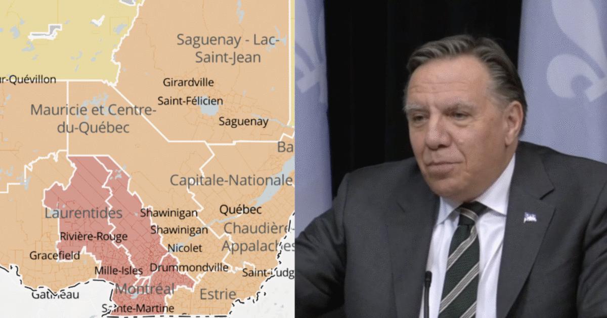 Voici toutes les municipalités du Québec qui seront en confinement ce soir