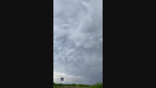 Mammatus Clouds Fill Skies as Severe Thunderstorms Warned in West Texas