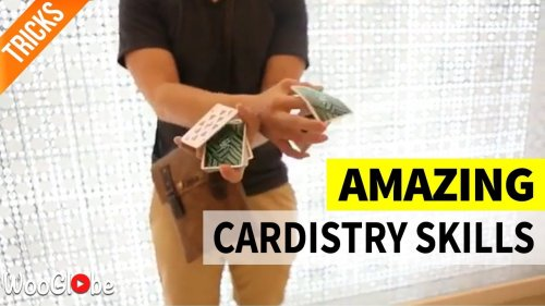 'Cardistry World Champion performs mindbending Card Isolation trick'