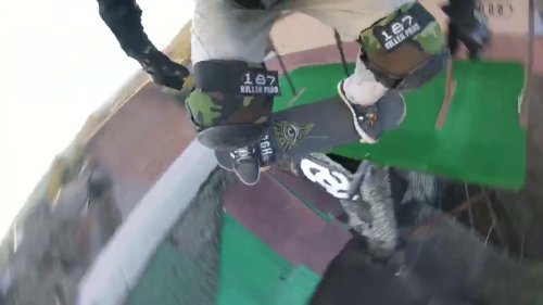 Skater's POV On Mega Ramp