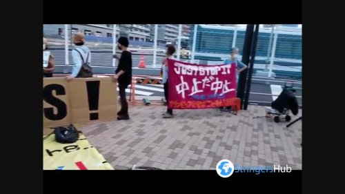 Tokyo Olympics: Protesters Demand Cancellation Near Oly Village As Corona Cases Surge In Tokyo