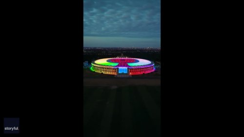 Berlin's Olympic Stadium Lights Up in Rainbow Colors as German Clubs Respond to UEFA Munich Ban