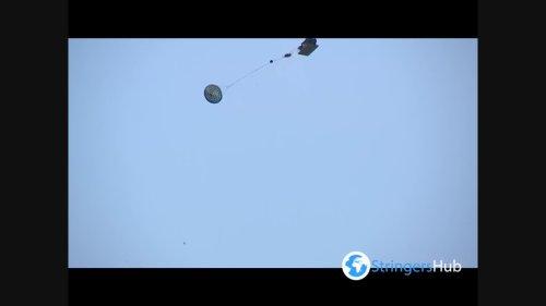 Airborne exercises were held as part of Agile Spirit 2021 in Vaziani Airport, Georgia