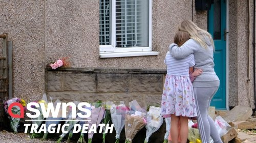 A six-year-old girl has died after being struck by a car whilst out walking with her father (RAW)
