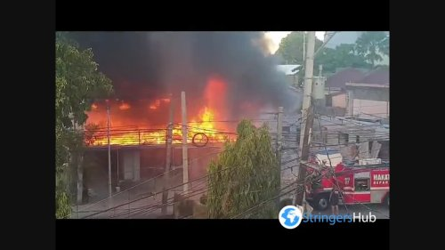 Philippines: Fire erupts in Makati City, Metro Manila