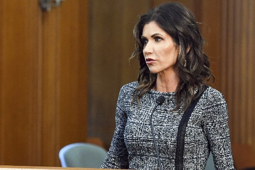 Noem's travel builds profile as virus surges in South Dakota