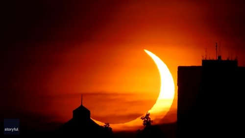 'Celestial Treat': Crescent Sun Rises Up in New York During Solar Eclipse