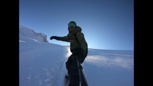 Snowboarder Captures Epic Backflip on Selfie Stick