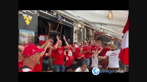 Euro 2020: Excited Austrian fans gather before game against Ukraine in Bucharest, Romania