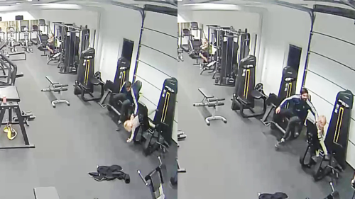 'Swedish Dad's Lightning-Fast Reflexes Save Daughter From Falling on Gym Floor'