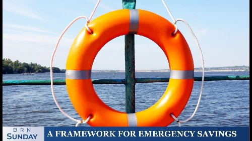 BRN Sunday  A framework for emergency savings