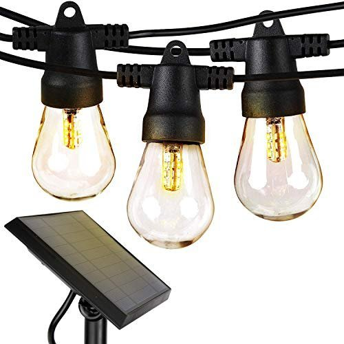 Waterproof solar powered LED string lights for a pleasant backyard ambiance